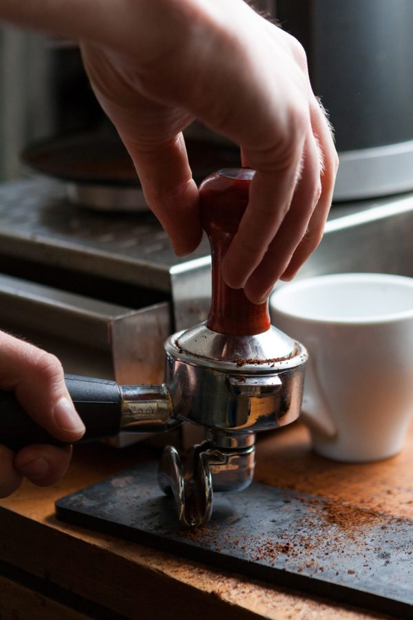 Brewing and tasting the product is an important step in the process.